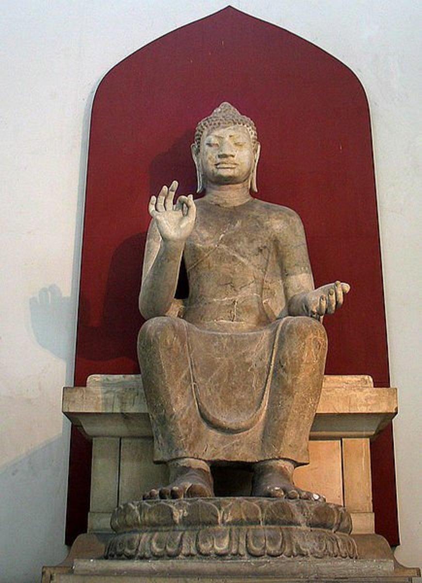 Phra Pathom Chedi, Nakhon Pathom, Thailand.  Dvaravati style.