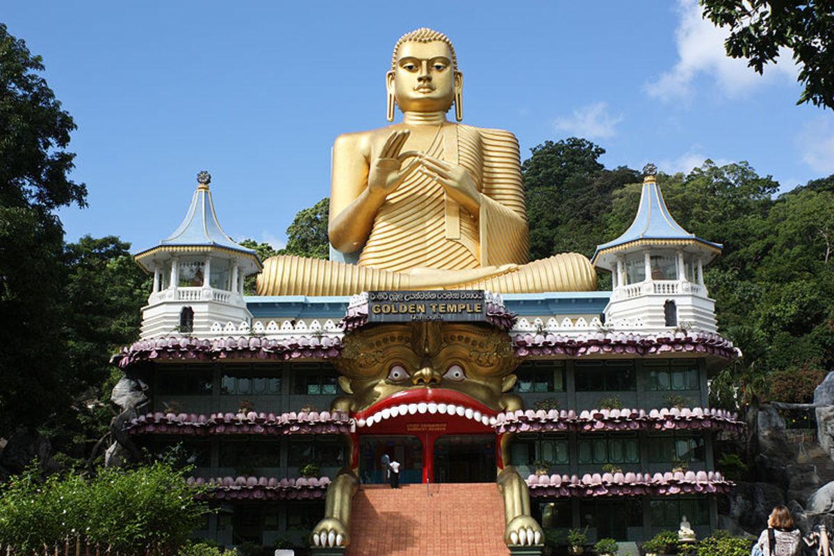 Golden Buddha at Buddhist Museum, Dambulla, Sri Lanka