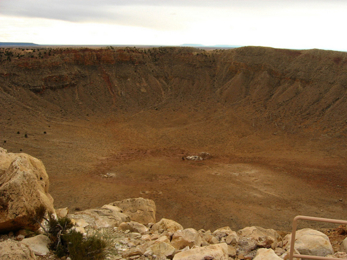 The Barringer Impact Crater in Arizona, USA.