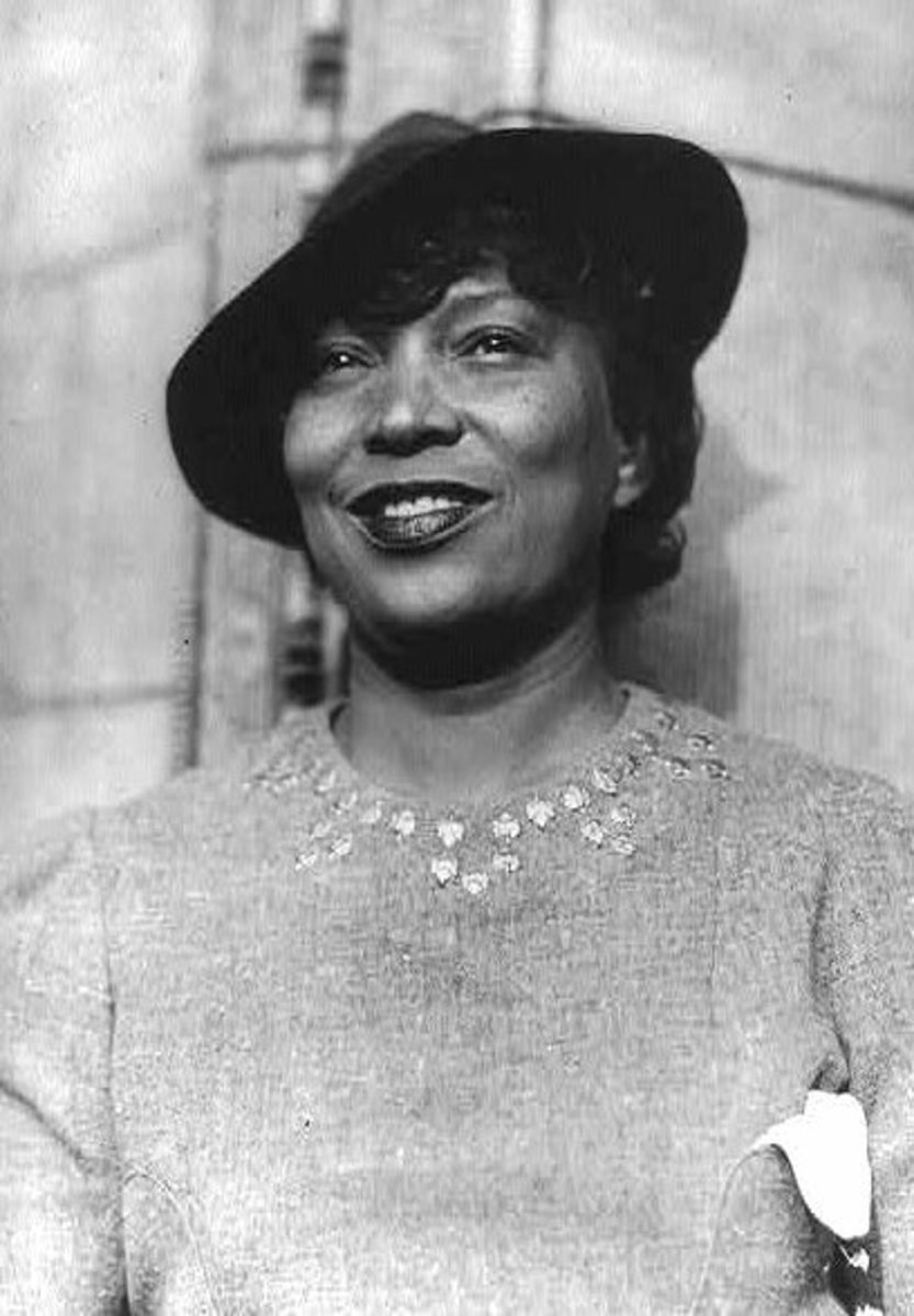 Photo of Zora Neale Hurston, taken sometime between 1935 and 1943. Photographer unknown.