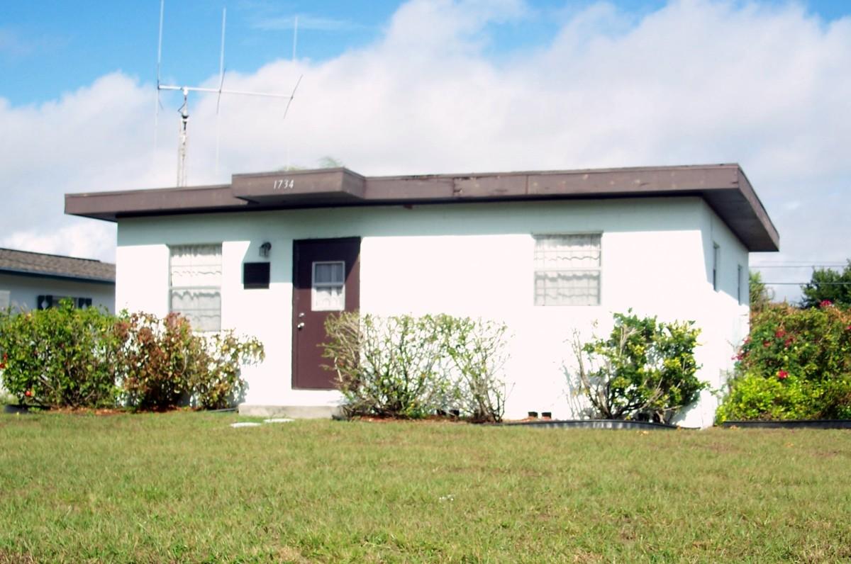 Photo of Zora Neale Hurston's house in Ft. Pierce, FL.