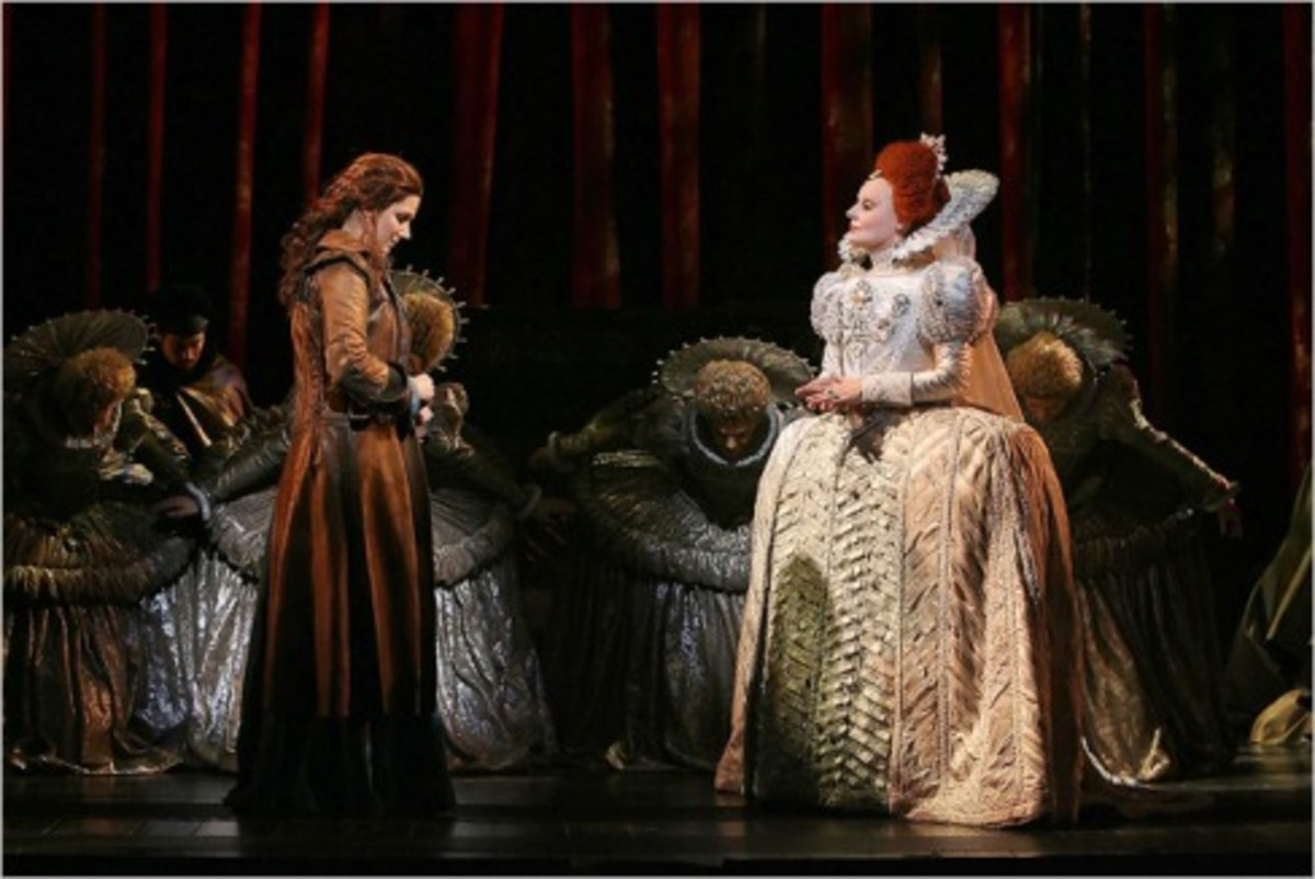 Theatrical reproduction of Grace's infamous meeting with Queen Bess