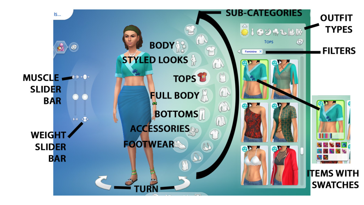 Move on to your Sim's body to shape it and clothe it as you like.