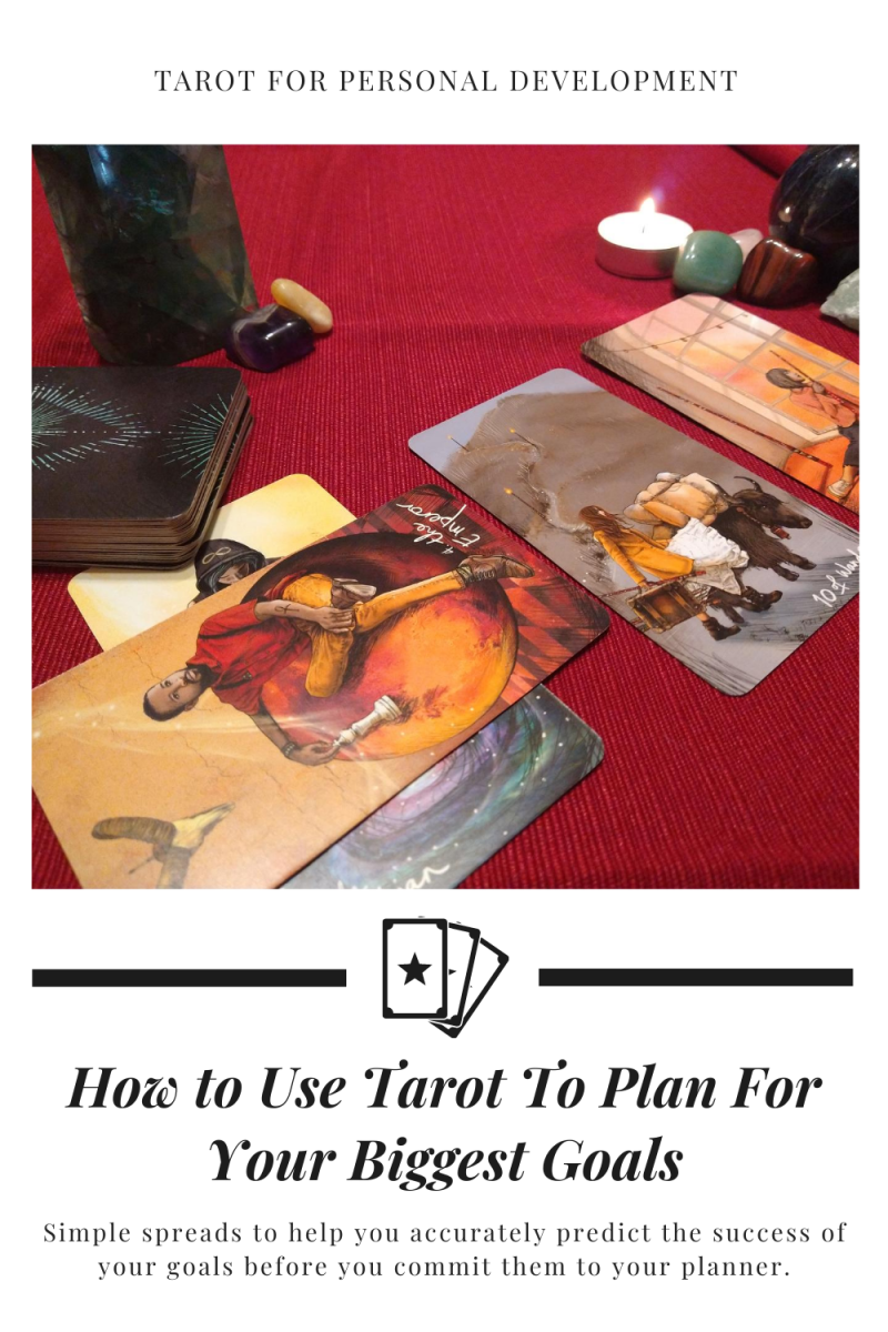 Tarot, when used for personal development, can be used as a tool to help you create better goals for yourself.