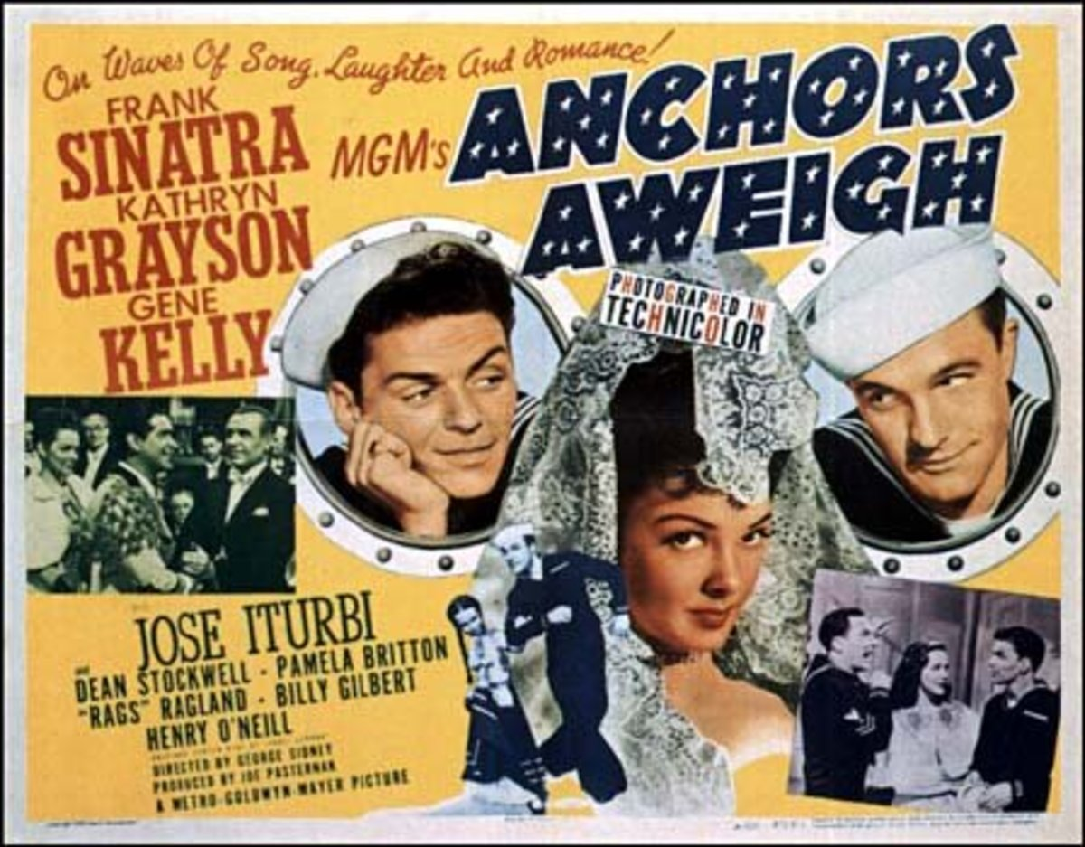 Anchors Aweigh was a 1945 musical comedy film starring Frank Sinatra, Kathryn Grayson, and Gene Kelly.