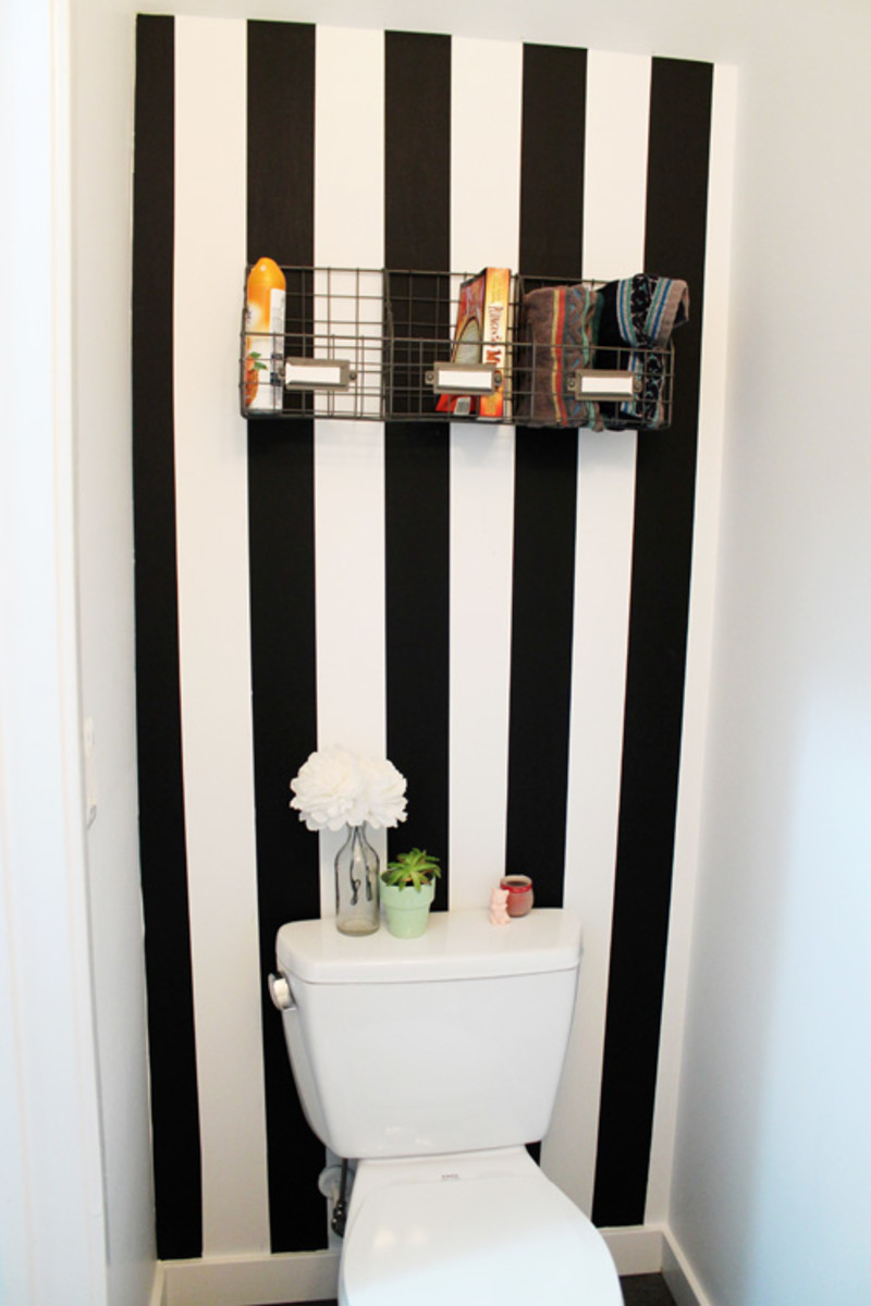 A washi taped wall can easily be removed and replaced with a different color or pattern.