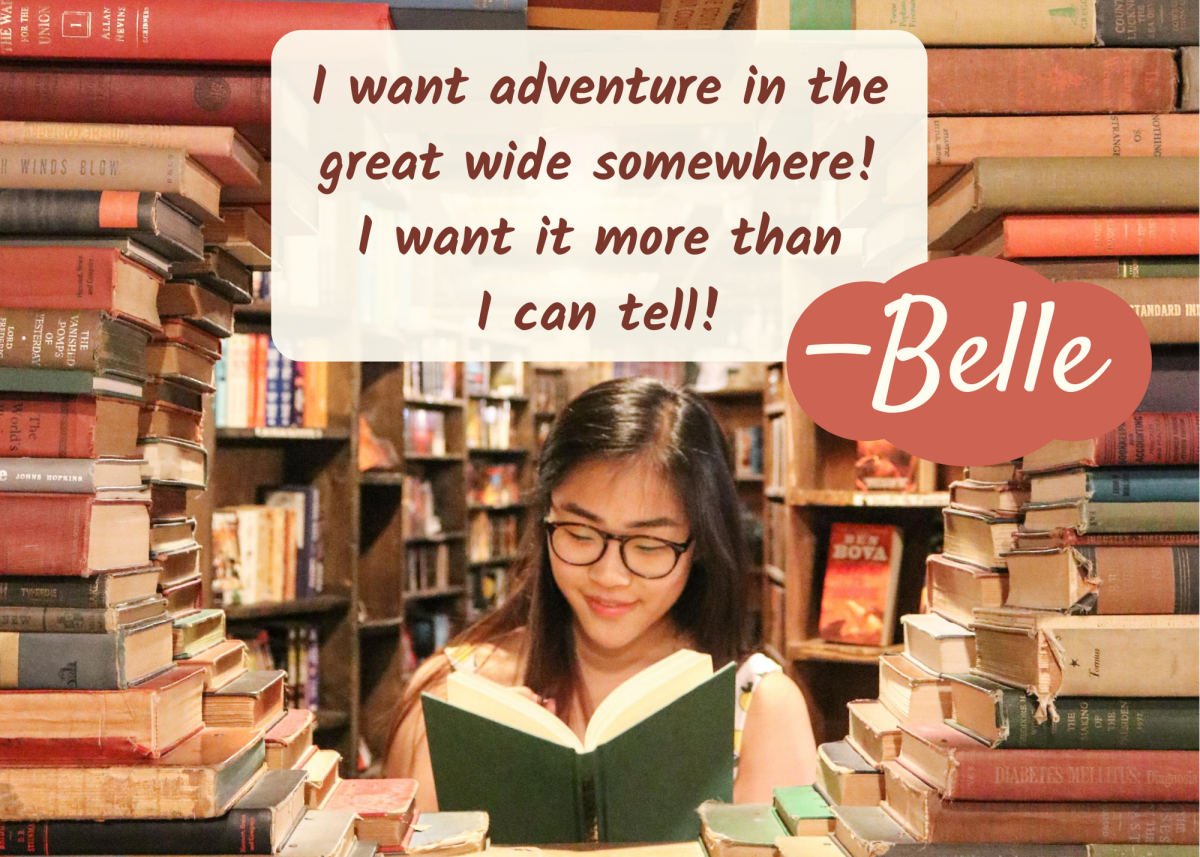 """In """"Beauty and the Beast,"""" the book-loving Belle dreams of experiencing a wider world. The name Belle means """"beauty."""""""