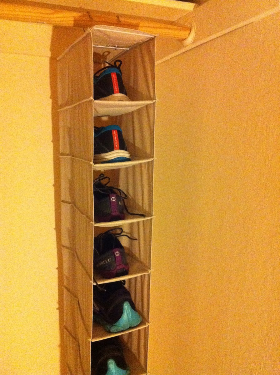 Using a shoe organizer will help you find items easier and limits the number of shoes you can have.