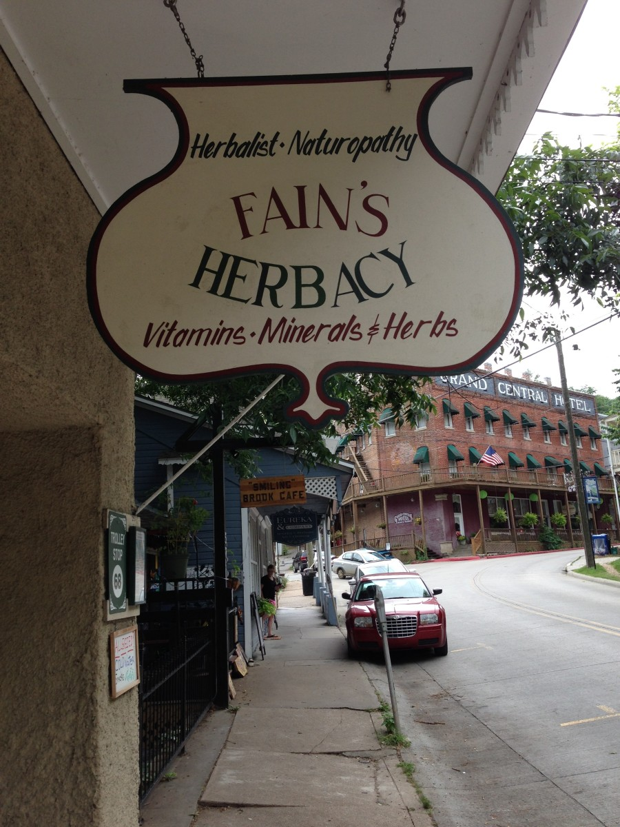 Fain's Herbacy in Eureka Springs, Arkanas