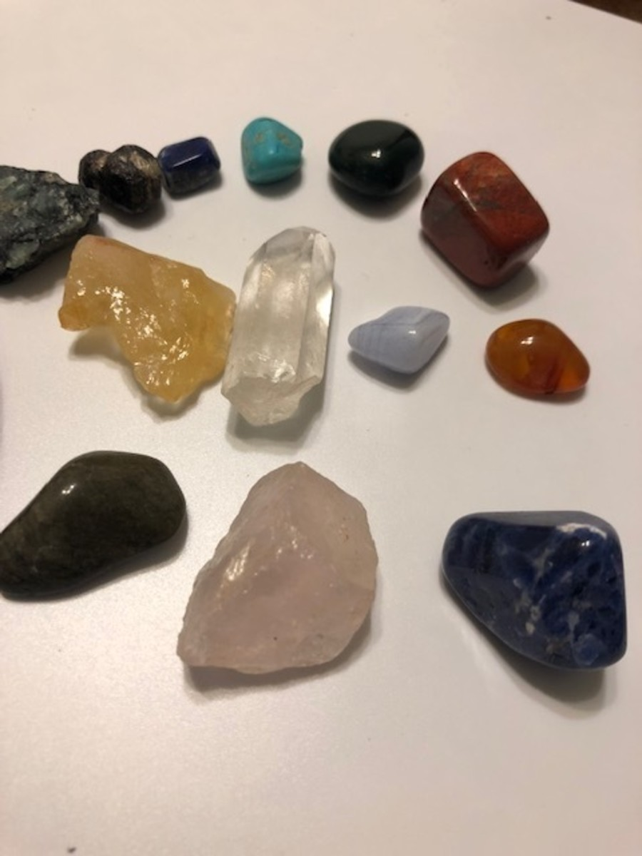 Crystals have been used since ancient times for their healing powers, included in amulets and rituals for protection and healing.