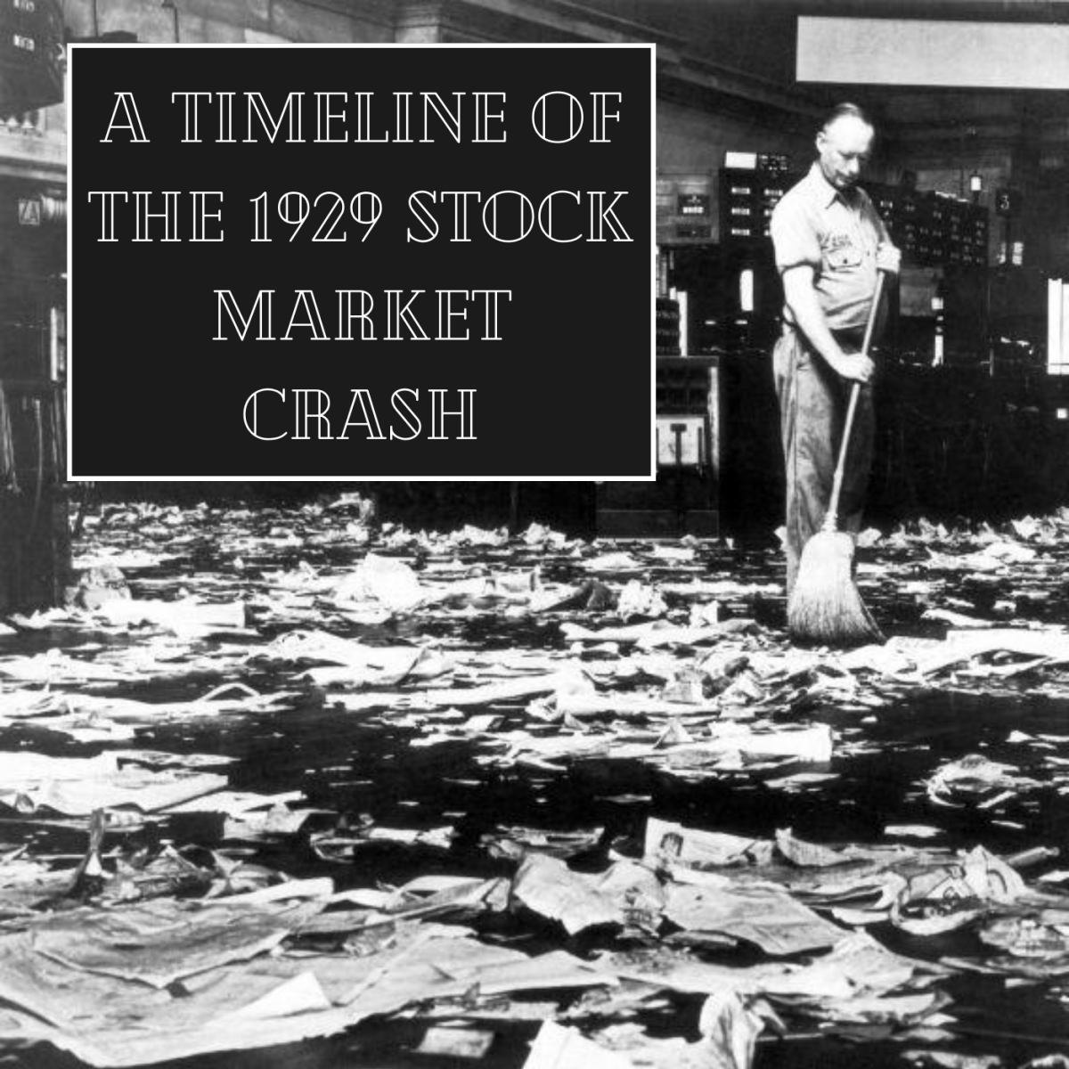 In 1929, the U.S. stock market experienced its greatest crash in history.