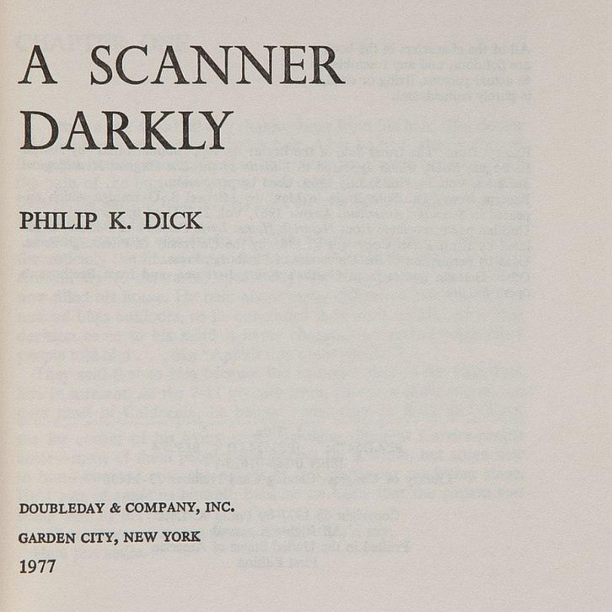 "A Review of ""A Scanner Darkly"" by Philip K. Dick"