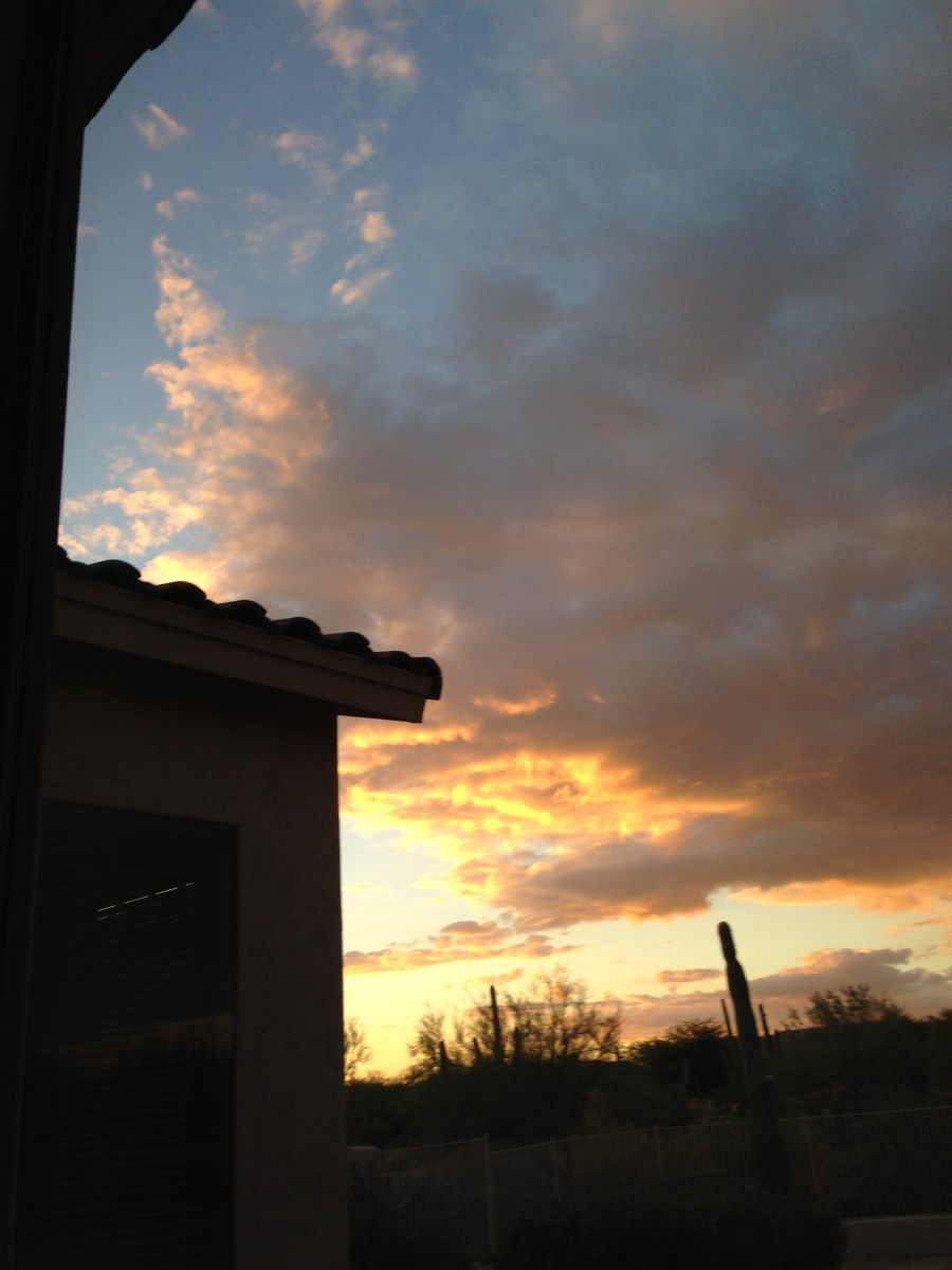 A much loved evening Arizona Sky-View
