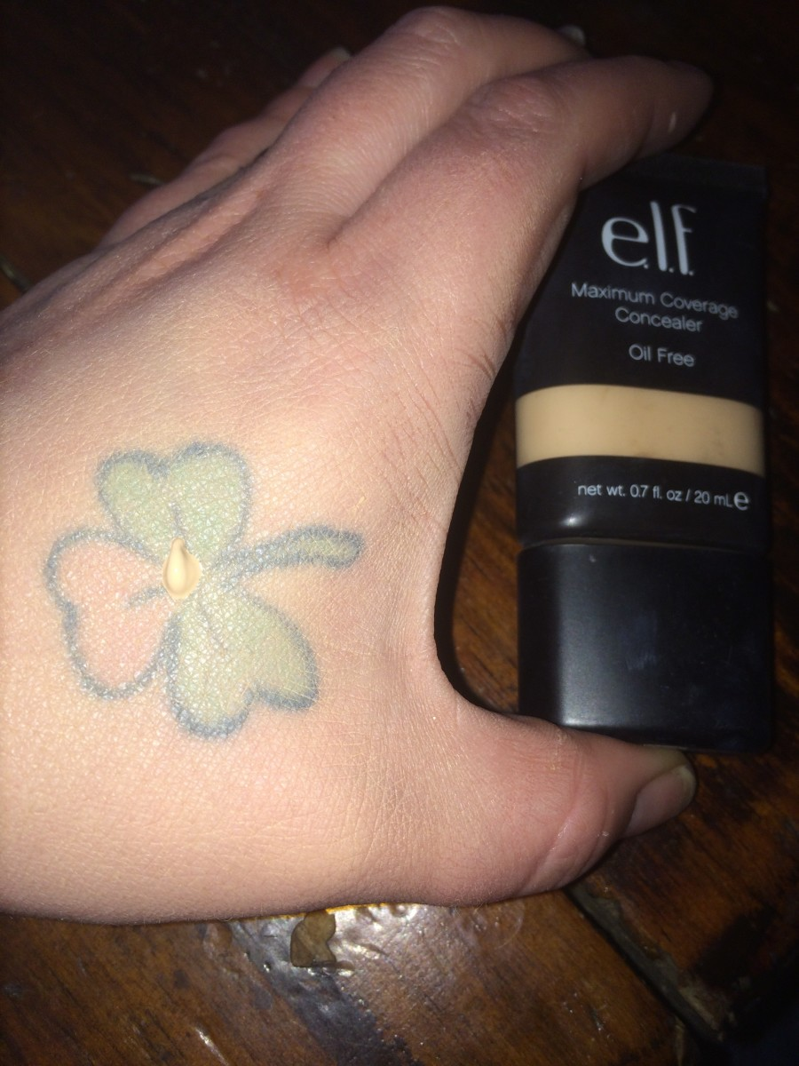 Your tattoo should be much lighter after applying foundation.