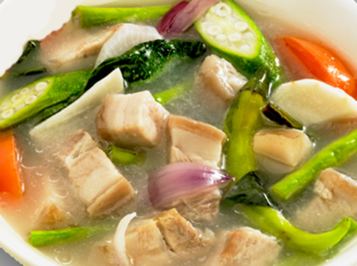 Sinigang Na Baboy Filipino Pork In Sour Tamarind Soup Delishably Food And Drink