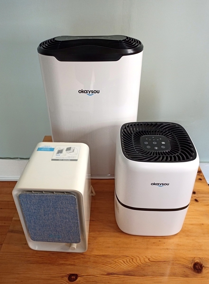 The Okaysou AirMax8L is quite large, compared to many other air purifiers