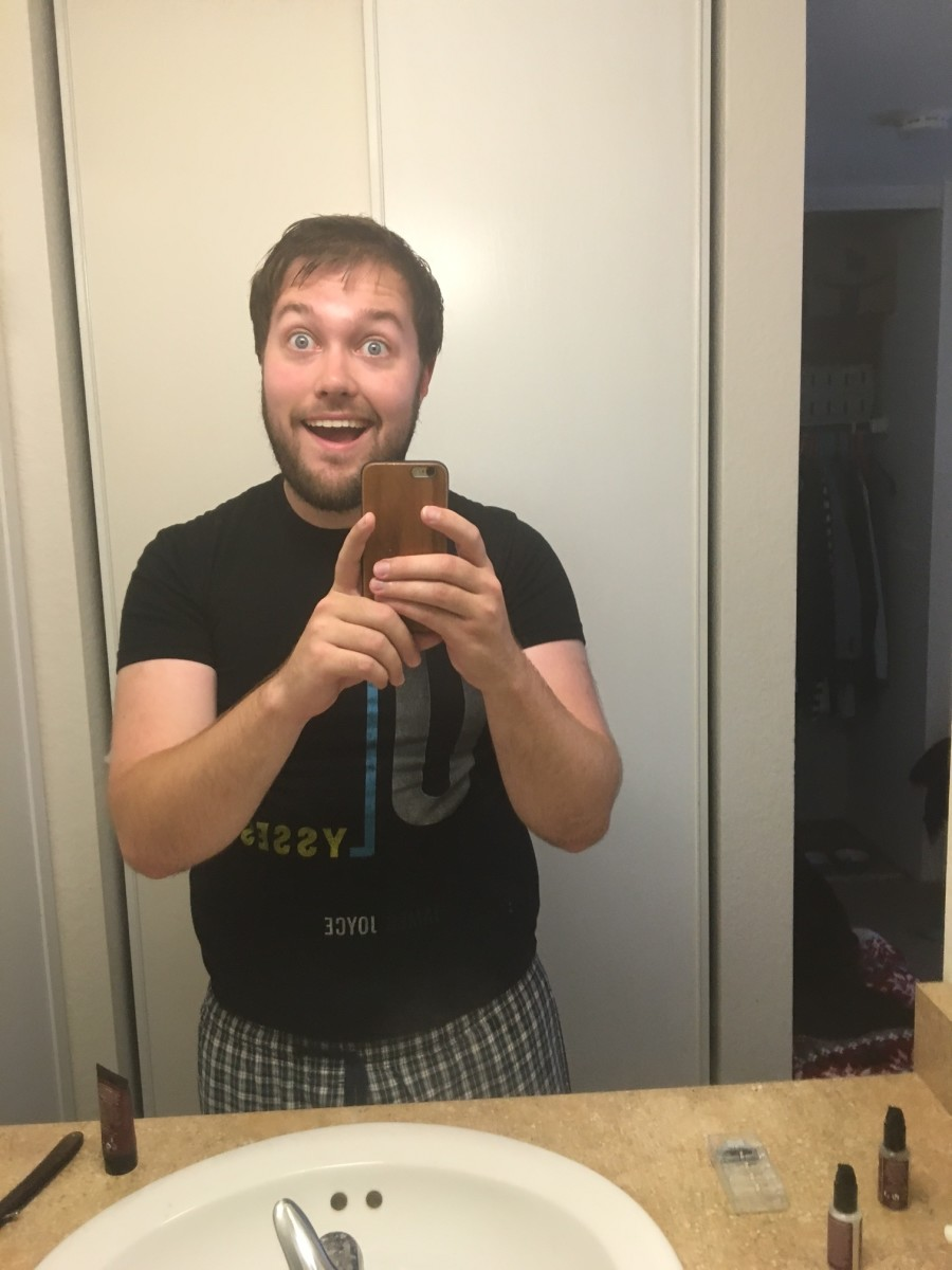 Pre-shave and post-shower, I'm totally ready for this.