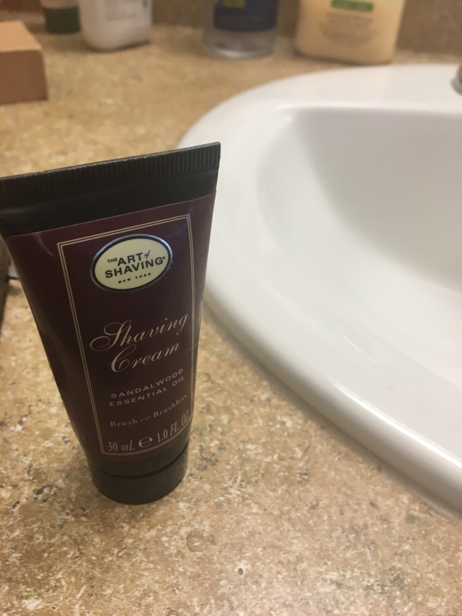 You could definitely use any regular old shaving cream, but I'm particularly enamored with how this one makes me smell.