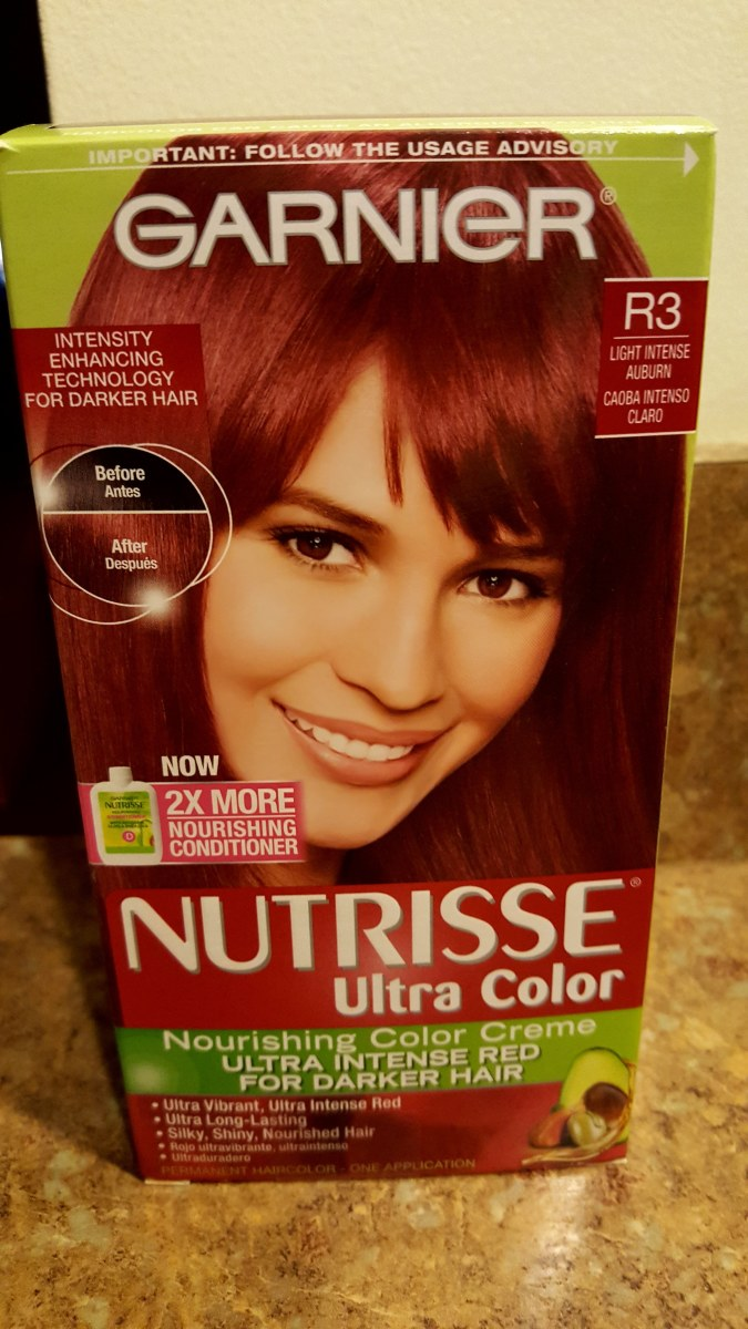 Garnier Nutrisse Ultra Color Ultra Intense Red for Darker Hair in Light Intense Auburn - R3