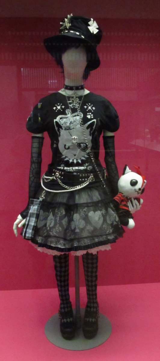 Lolita-style punk at the Victoria and Albert Museum, London.