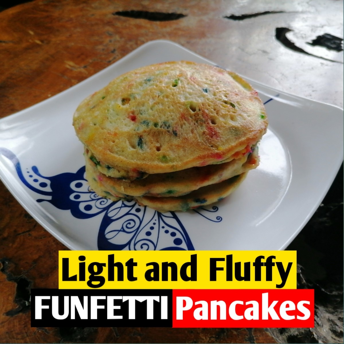 These funfetti pancakes are perfect for birthdays!