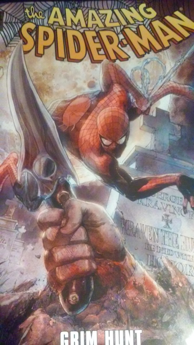 "Cover art for ""Amazing Spiderman: Grim Hunt"""