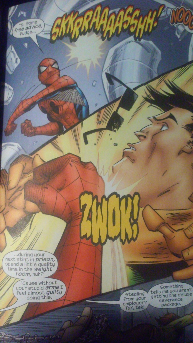 Jameson would have a field day if he knew Spidey was cracking jokes about people's weight.
