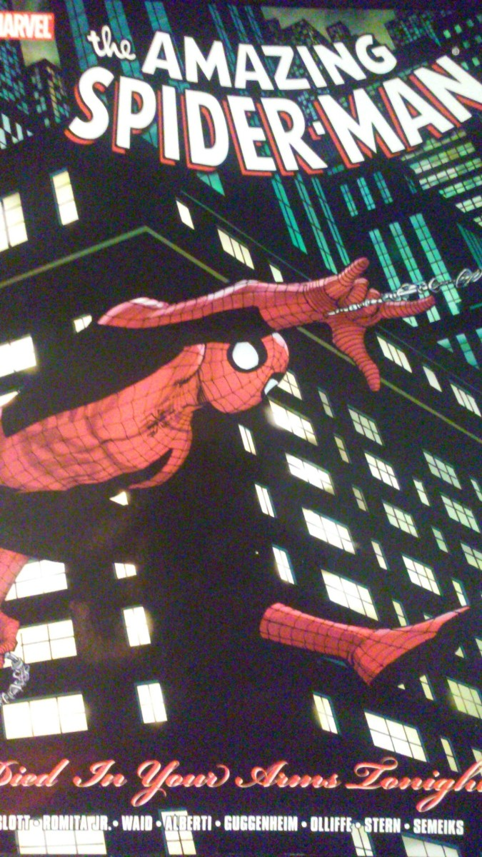 """Cover of """"The Amazing Spider-Man: Died in Your Arms Tonight"""""""