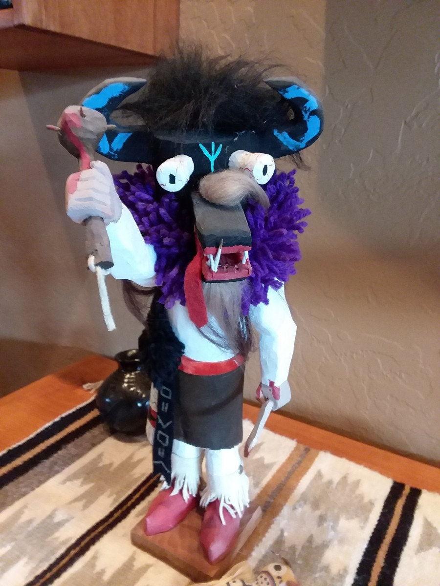 Ogre Kachina was intended to visit a naughty child in the Hopi village to instruct them in proper behavior.