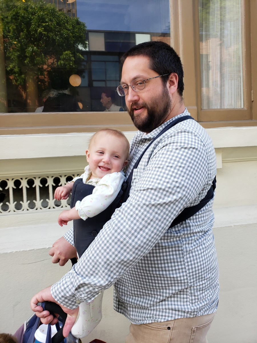 Go out on a walk with a baby carrier facing outwards—and if possible, try to have someone other than the mother do this, as it can be more difficult for a mother to bottle feed a baby when the infant is used to breastfeeding from her.