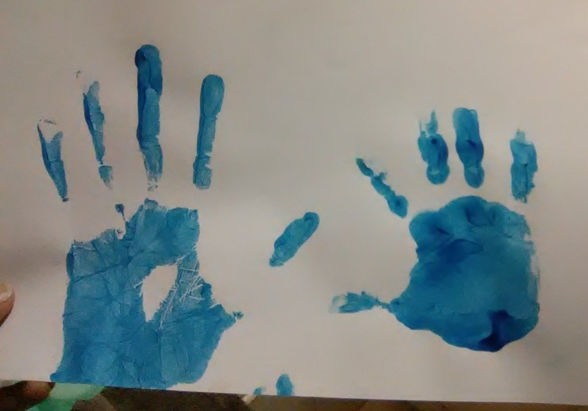 Mother and Son handprint
