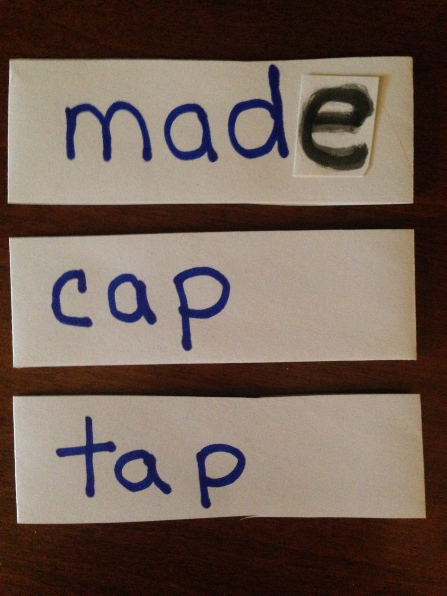Adding magic silent e to the end of short vowel words.
