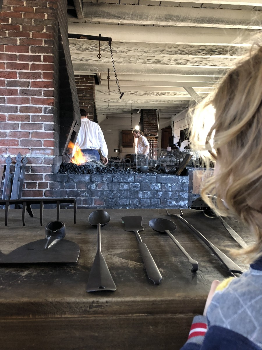 Experiencing Living History: Blacksmith Shop in Colonial Williamsburg