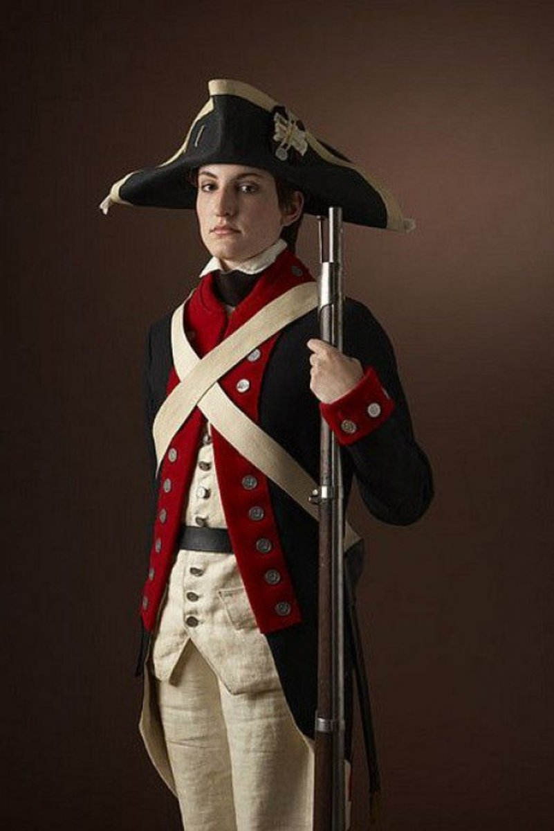 Woman Dressed as Revolutionary War Soldier