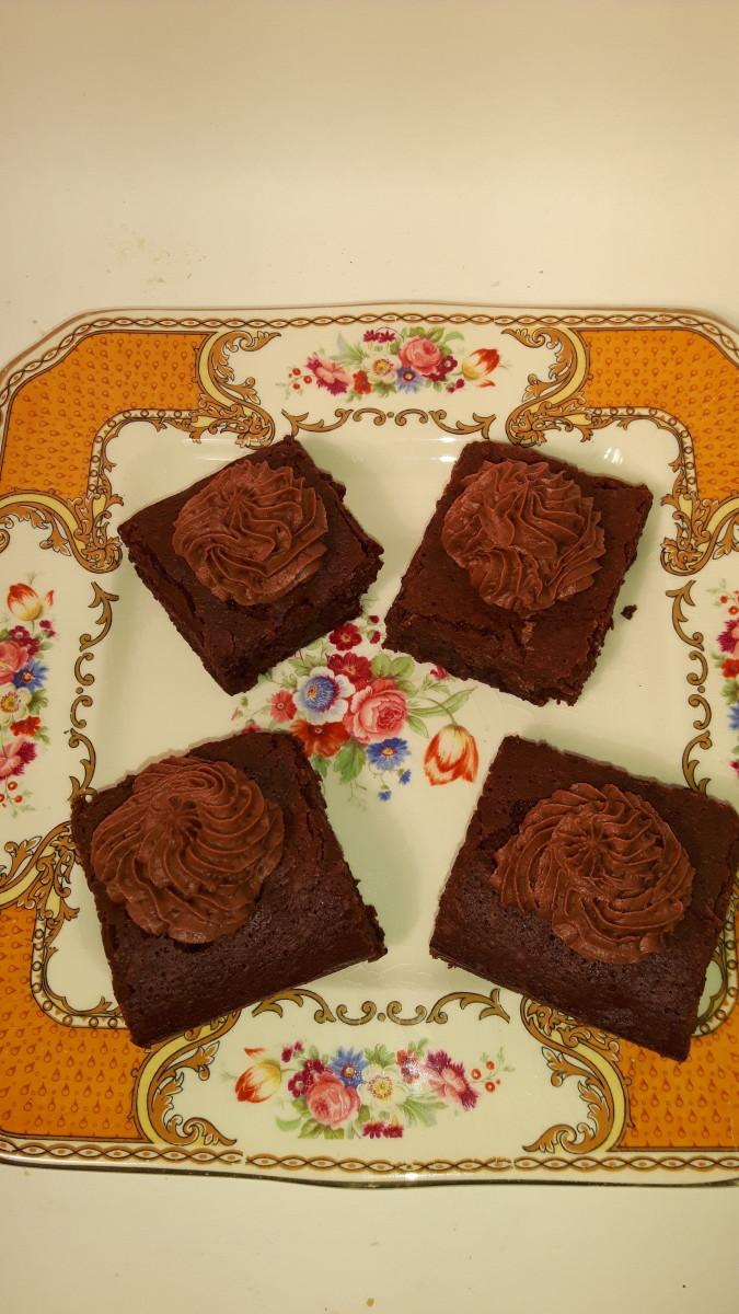 Iced grain-free chocolate brownies