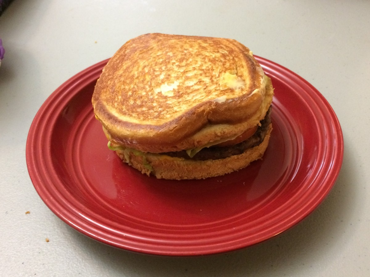 Stacked Grilled Cheese Burger from Jack In The Box