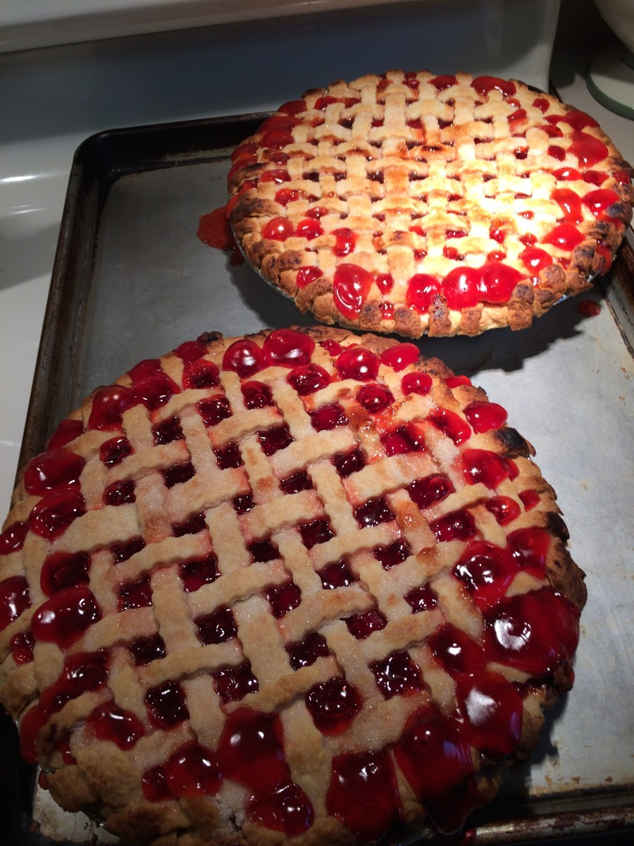 Cherrie Pies Fresh From the Oven