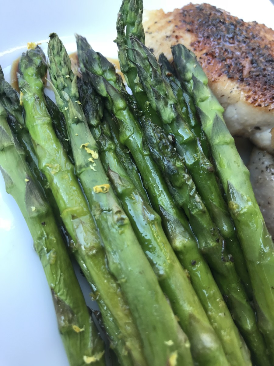 Quick Roasted Asparagus With Lemon Recipe