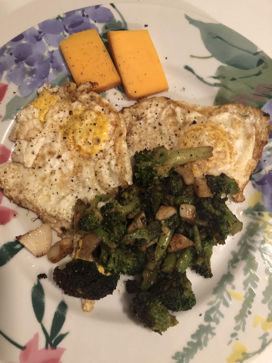 Broccoli, Eggs and Cheese Dish (Keto and Vegetarian)