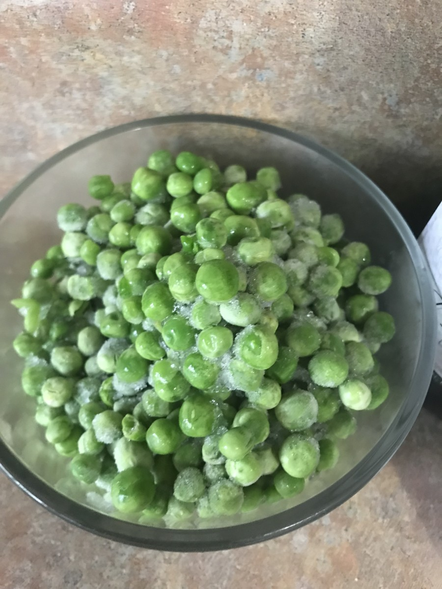 I love frozen peas. They're picked and frozen so fast they retain tons of nutrients and flavor, and they're so convenient to keep in the freezer to add to casseroles. You usually don't even have to defrost them,