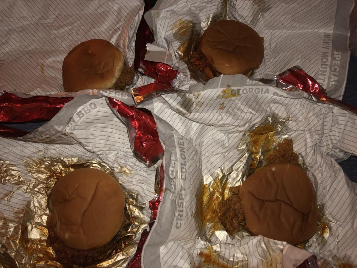 KFC's Crispy Colonel sandwiches