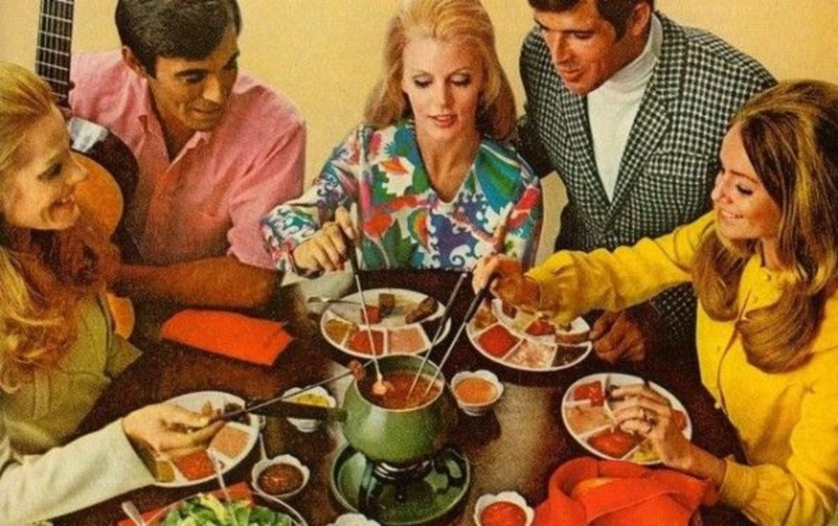 Look how much fun you could have had at a 1960s fondue party!