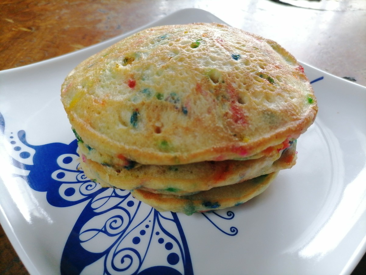 Birthday cake pancakes are always a hit!