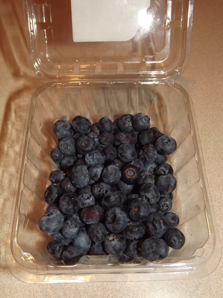 Fresh store bought blueberries.