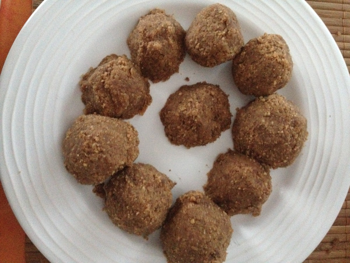 Ready to be served.  'Baci' Chocolate Balls by Kikalina