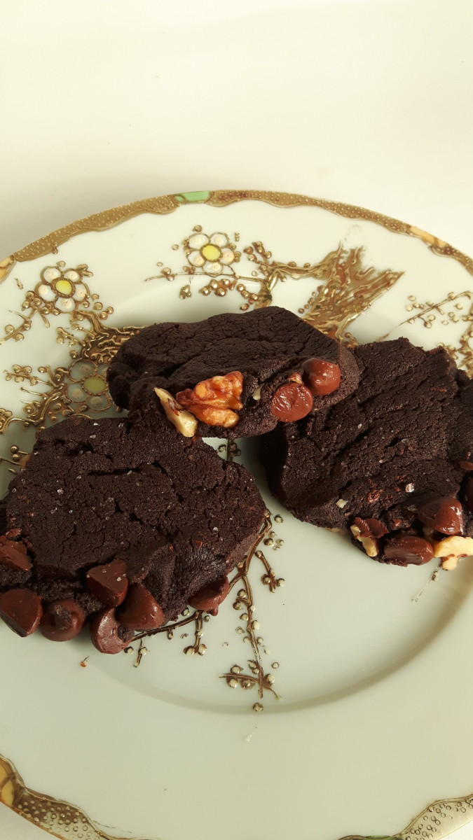Salted Chocolate Cookies ready to eat!