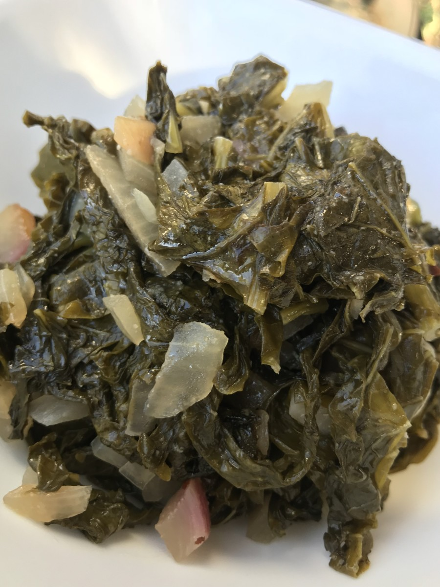Turnip greens are more tender and sweeter than collards, and they're ready to serve in less time. So good!