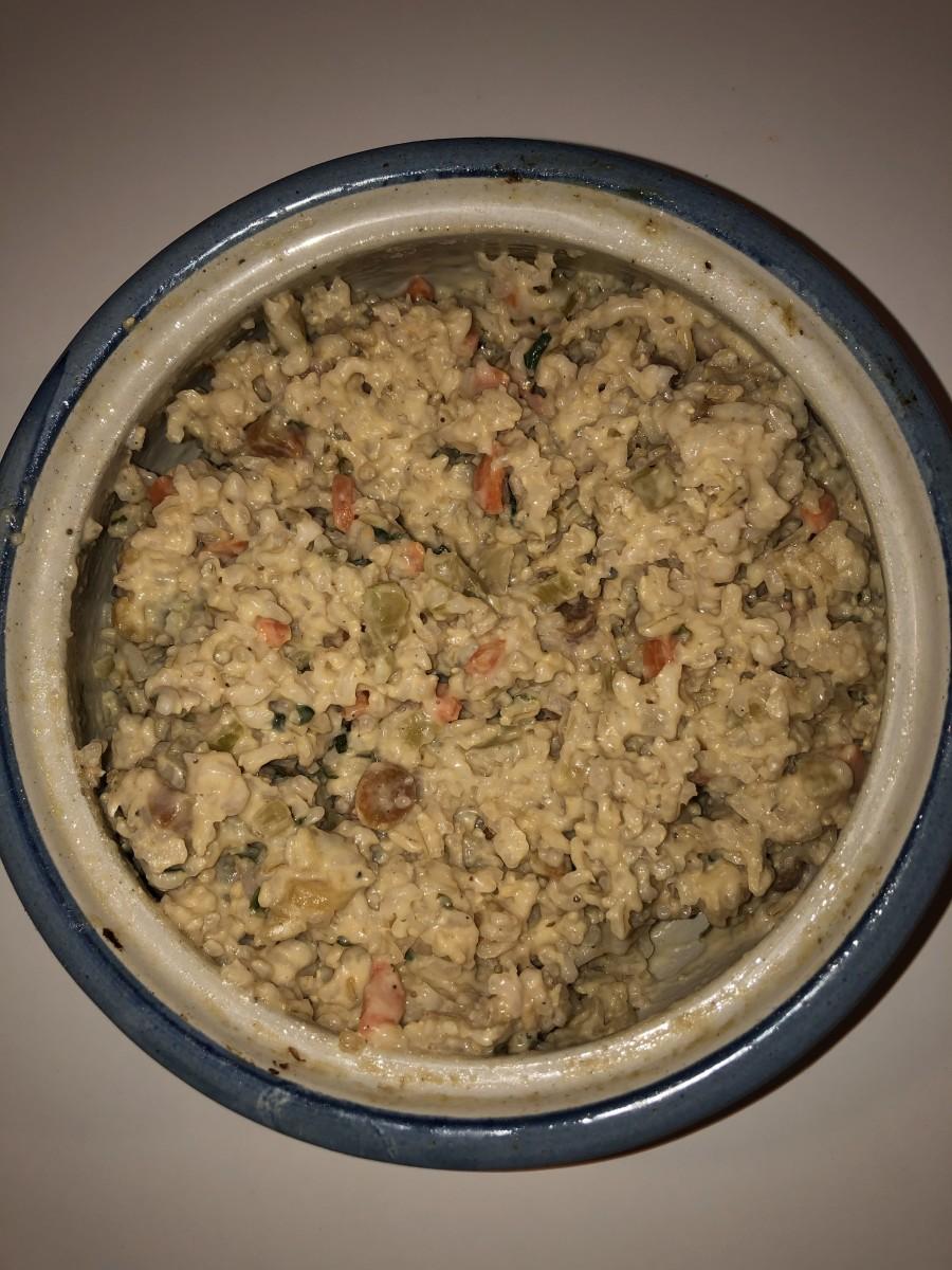 Vegetarian potpie risotto.