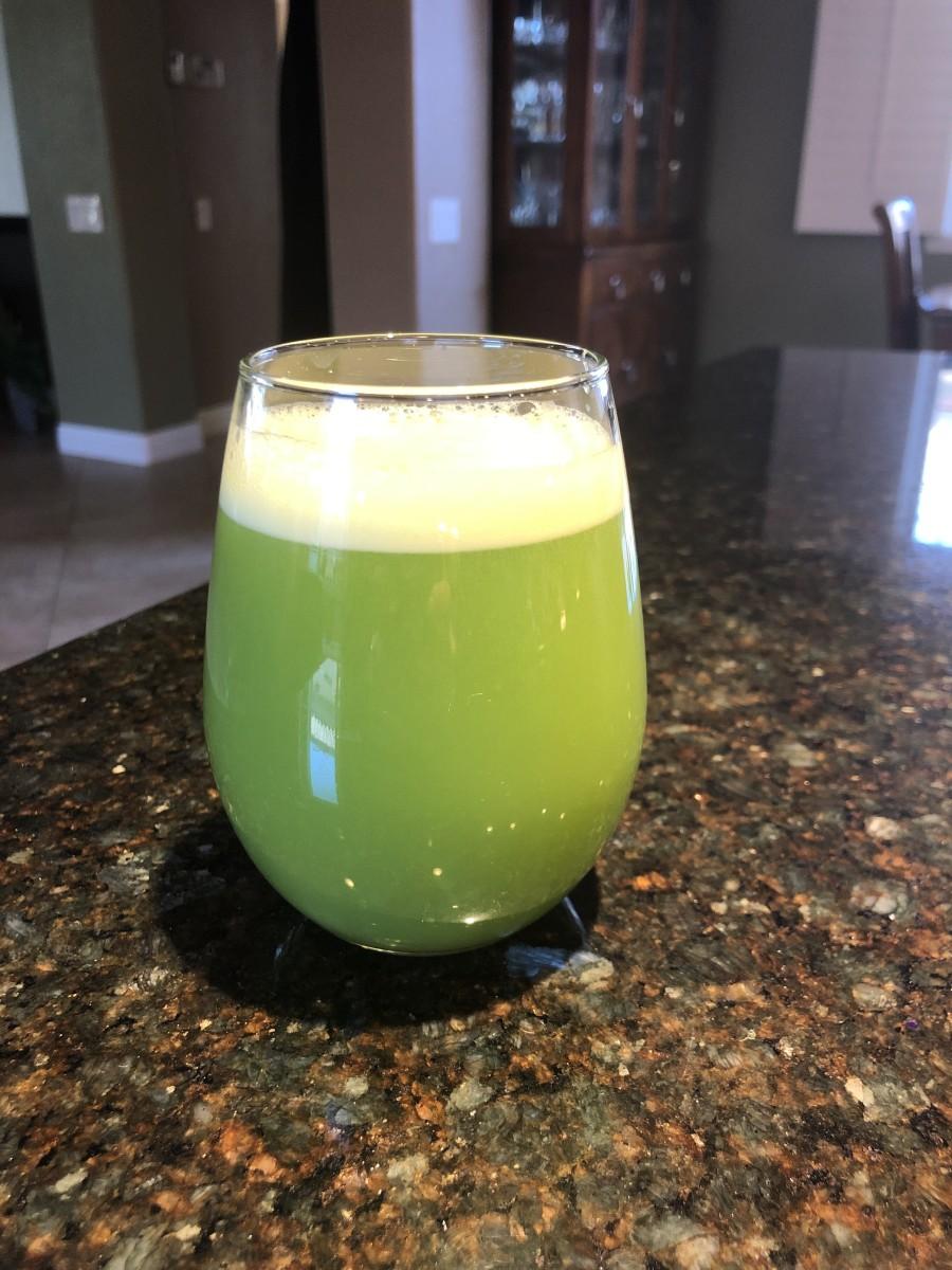 Celery juice ready for breakfast!
