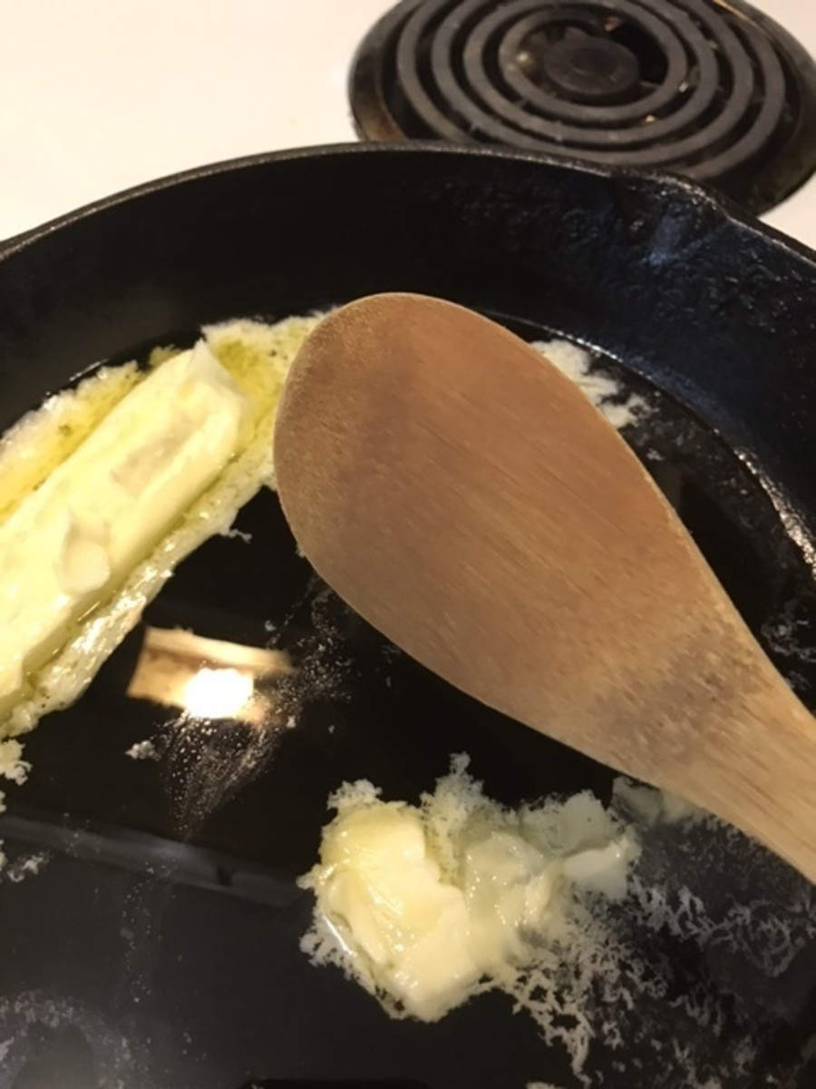 All you need for roux is a good skillet (I like cast iron) and a wooden spoon. That and some patience will yield perfect results!